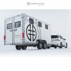 Hrímnir 5 horse trailer, large saddle chamber